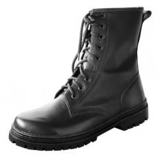 Ботинки с высокими берцами кожаные хромовые на цигейке